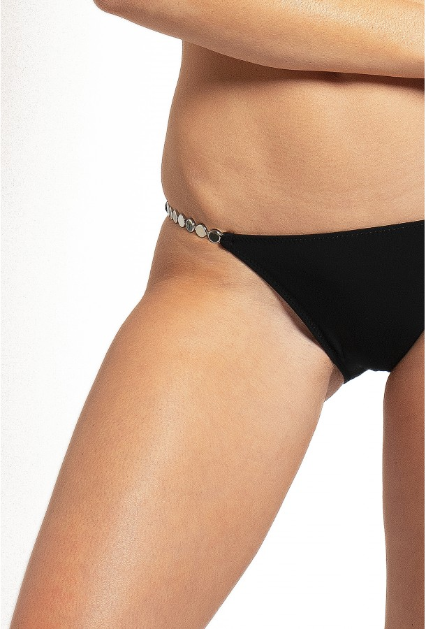 Thin Bikini Bottom with jewels Ciron PAIN DE SUCRE, Black