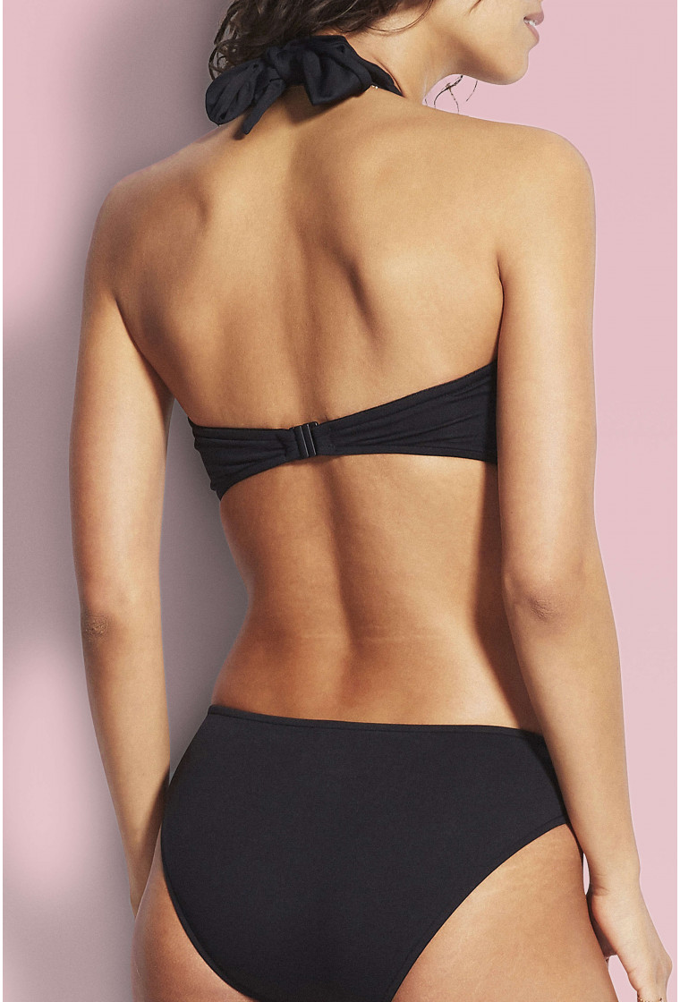 Bikini bottom SEAFOLLY, Black - Twist Band Hipster