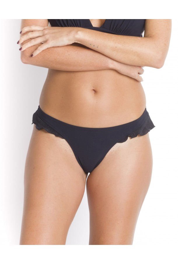 Bikini Bottom with Large frills Alala PAIN DE SUCRE Black - Uni Life